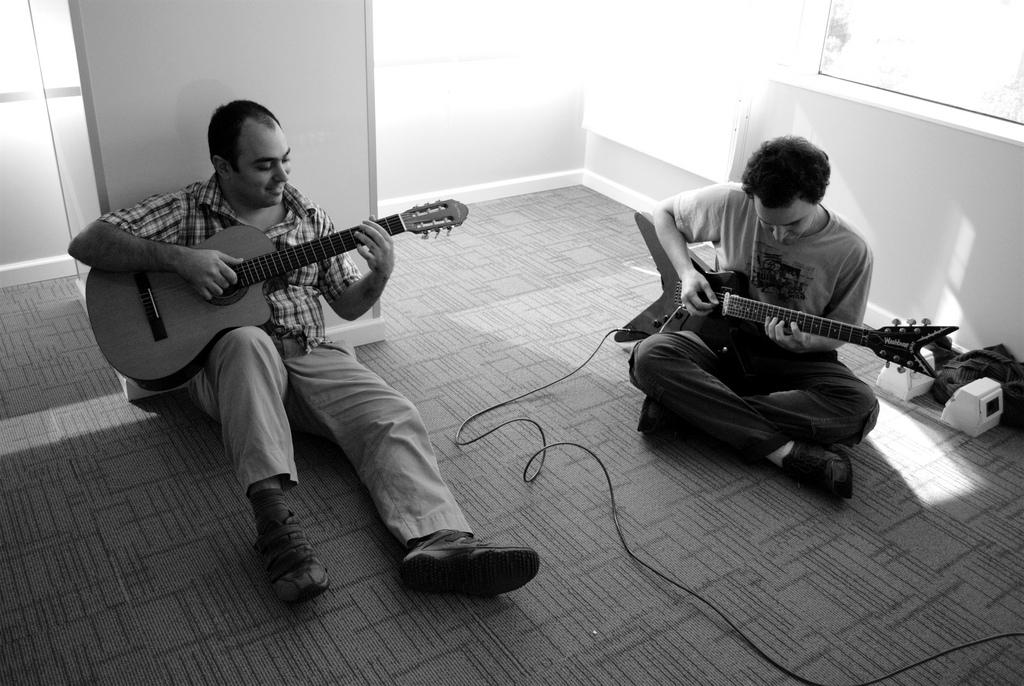 Musicians, jamming